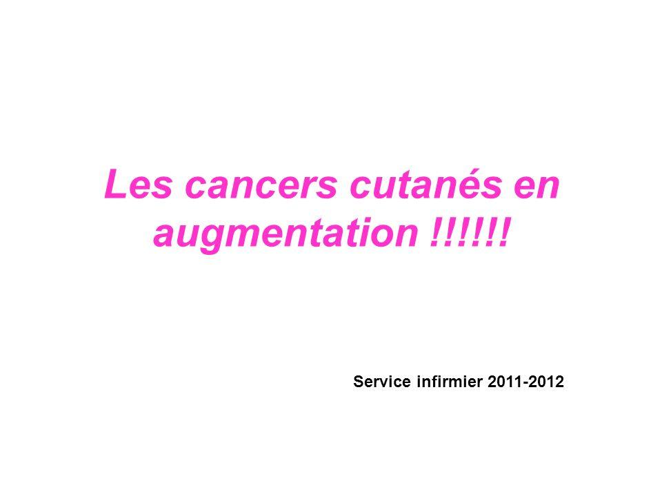 Les cancers cutanés en augmentation !!!!!!