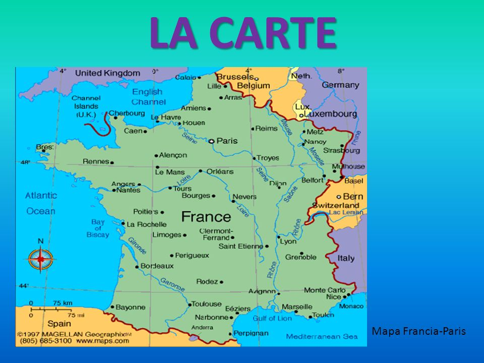 LA CARTE Mapa Francia-Paris
