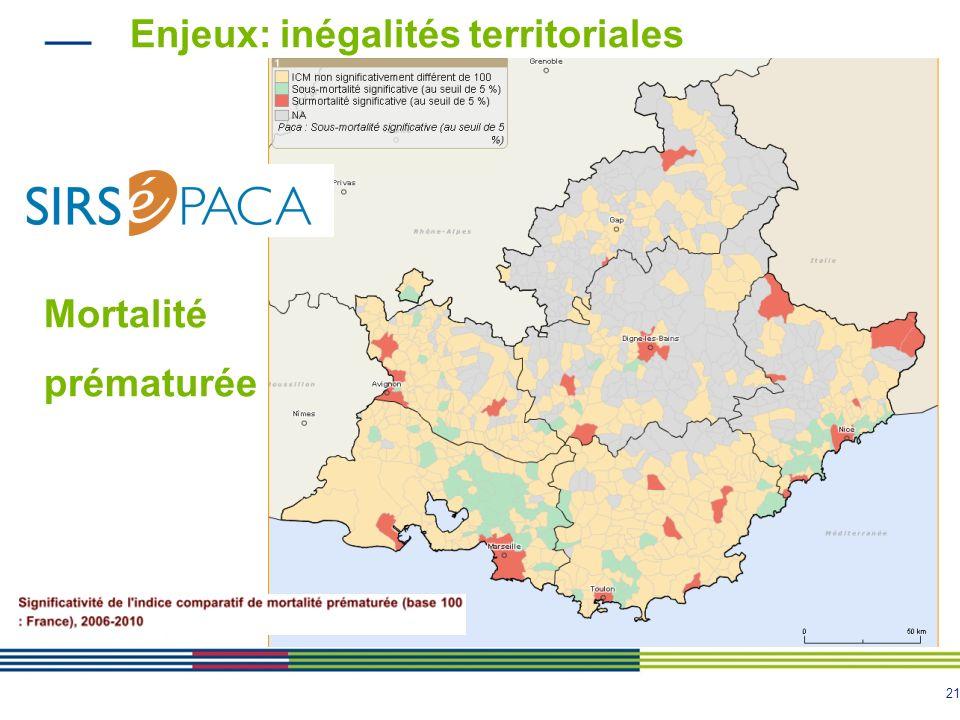 Enjeux: inégalités territoriales