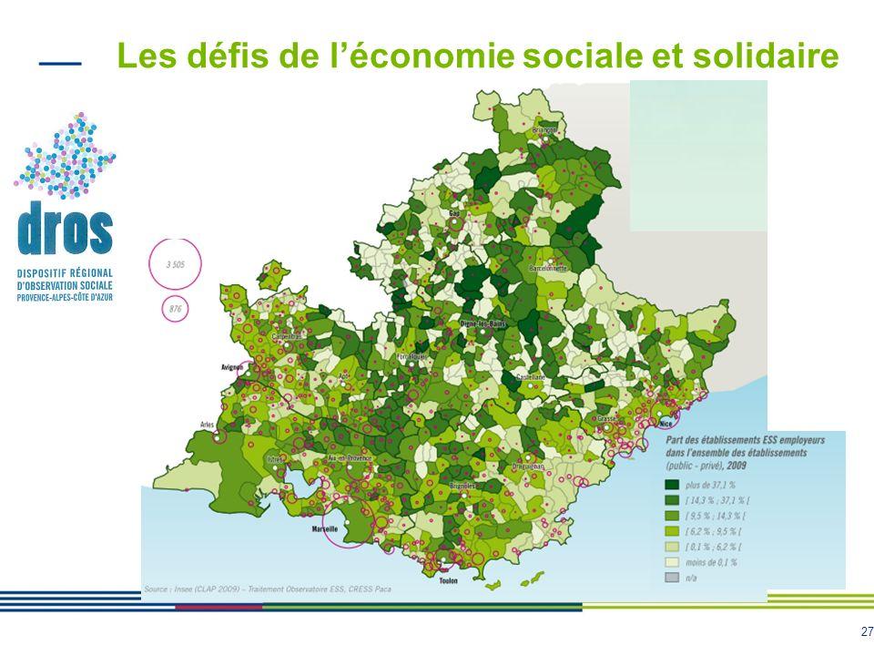 Les défis de l'économie sociale et solidaire