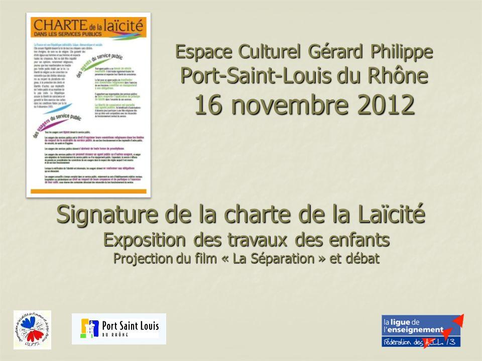 Signature de la charte de la Laïcité