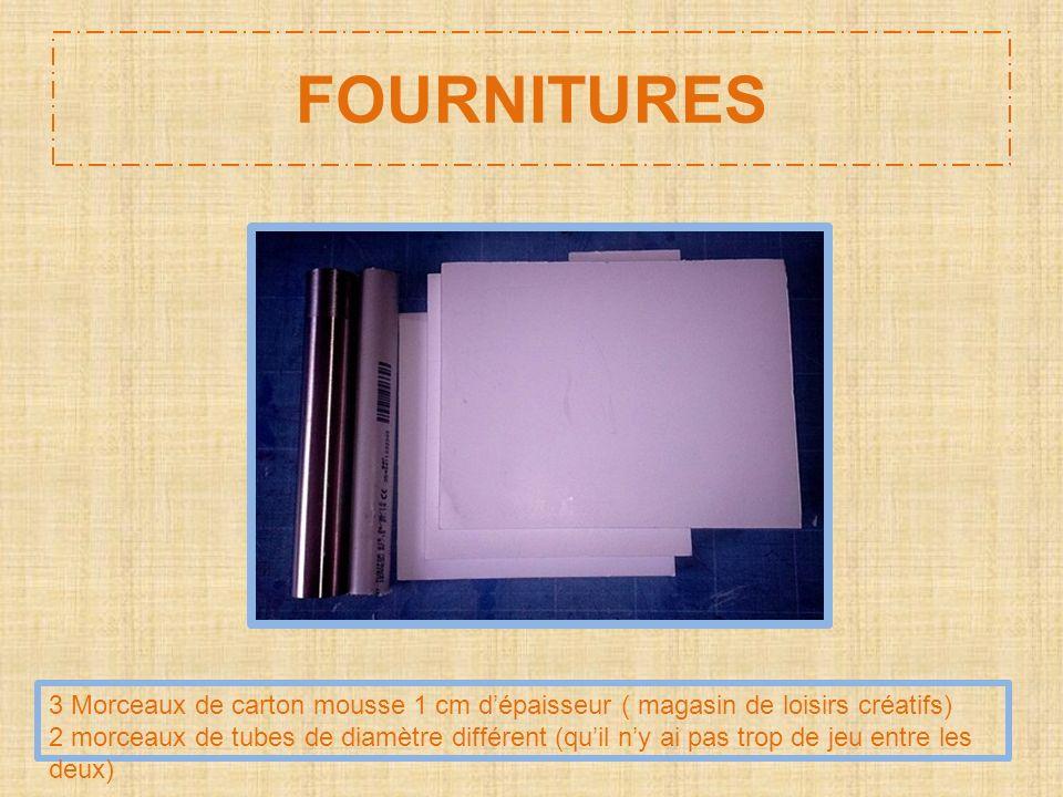 FOURNITURES 3 Morceaux de carton mousse 1 cm d'épaisseur ( magasin de loisirs créatifs)