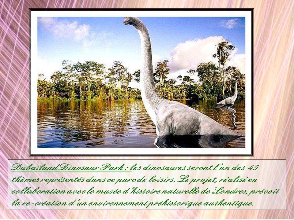 Dubaïland Dinosaur Park : les dinosaures seront l'un des 45