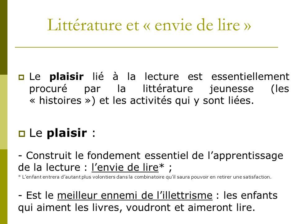 Littérature et « envie de lire »