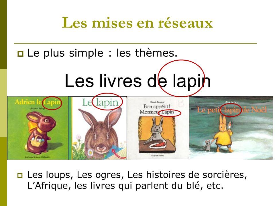 Les livres de lapin Les mises en réseaux Le plus simple : les thèmes.