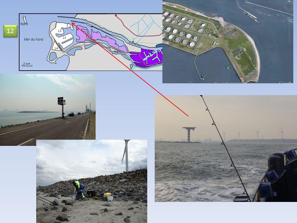 Nord 12 12 13 Mer du Nord 13 14 Nieuwe Waterweg 2 km