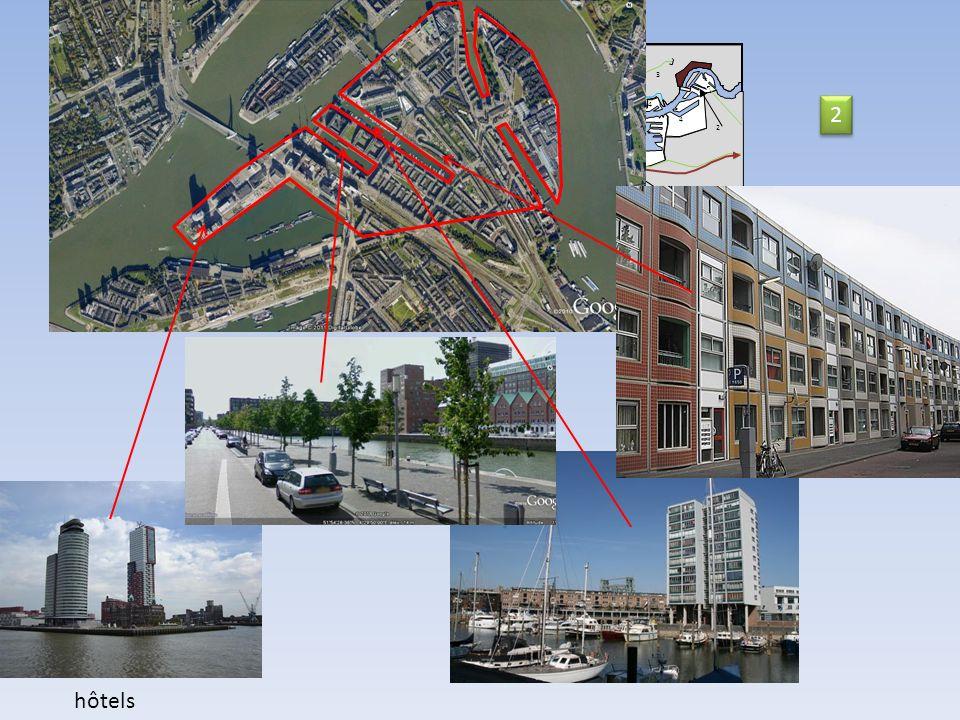 2 hôtels 9 11 9 11 Nord Mer du Nord 2 km 10 12 13 13 8 14 5 6 9 3 7 4