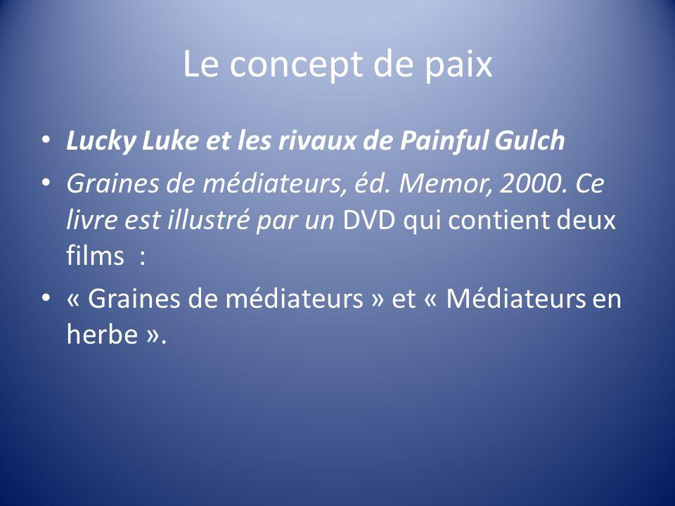 Le concept de paix Lucky Luke et les rivaux de Painful Gulch
