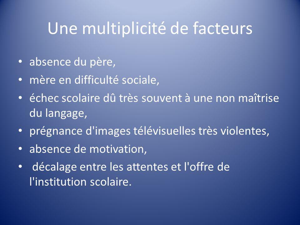 Une multiplicité de facteurs