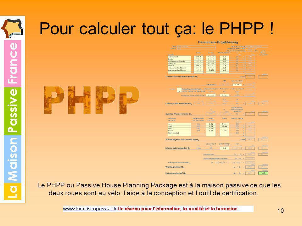 Pour calculer tout ça: le PHPP !