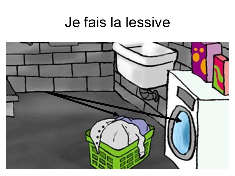Je fais la lessive