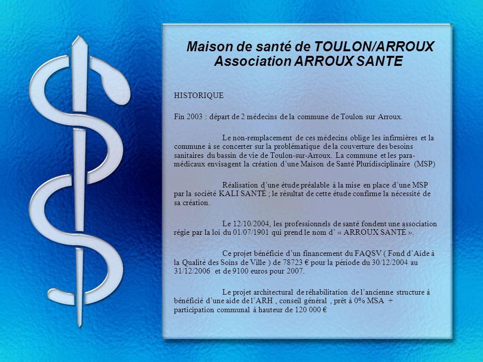 Maison de santé de TOULON/ARROUX Association ARROUX SANTE