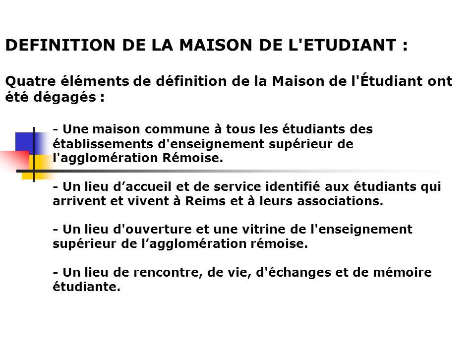DEFINITION DE LA MAISON DE L ETUDIANT :