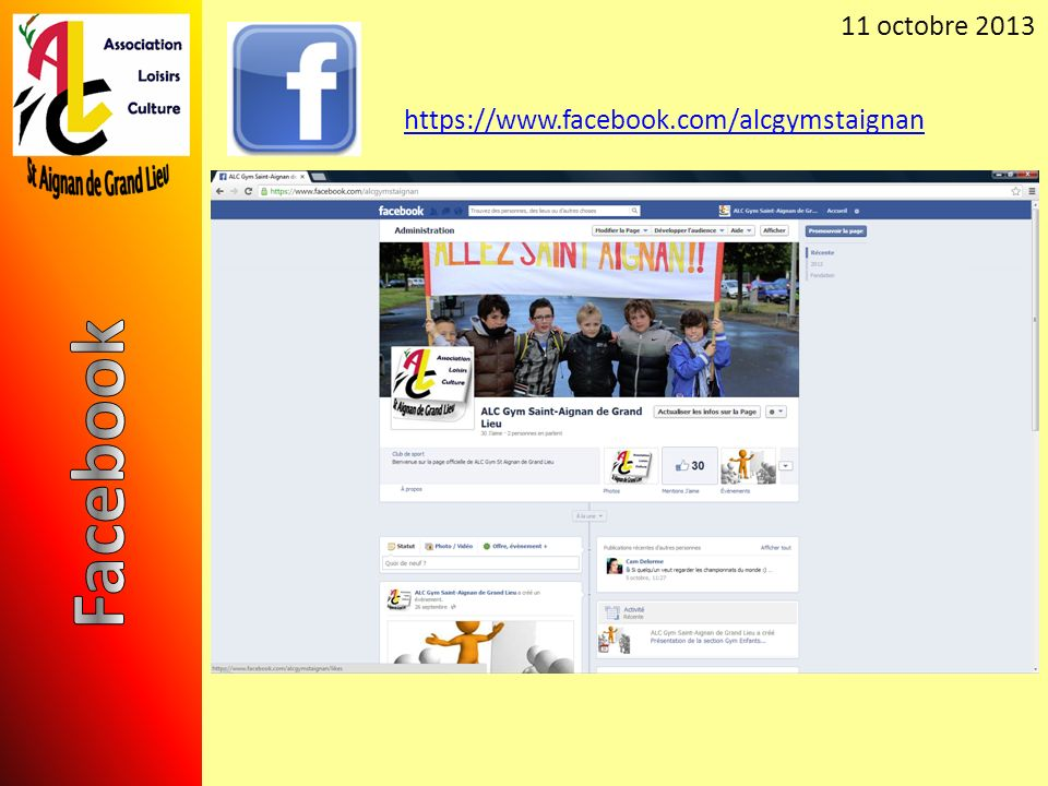 11 octobre 2013 https://www.facebook.com/alcgymstaignan Facebook