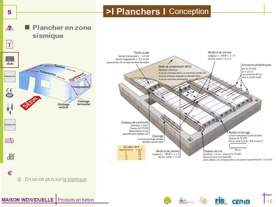Conception Plancher en zone sismique  En savoir plus sur la sismique