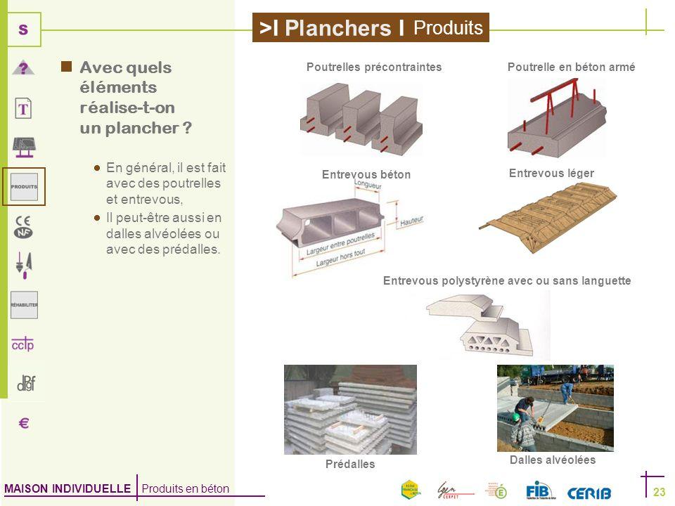 Produits Avec quels éléments réalise-t-on un plancher