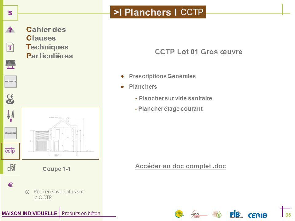 CCTP Cahier des Clauses Techniques Particulières