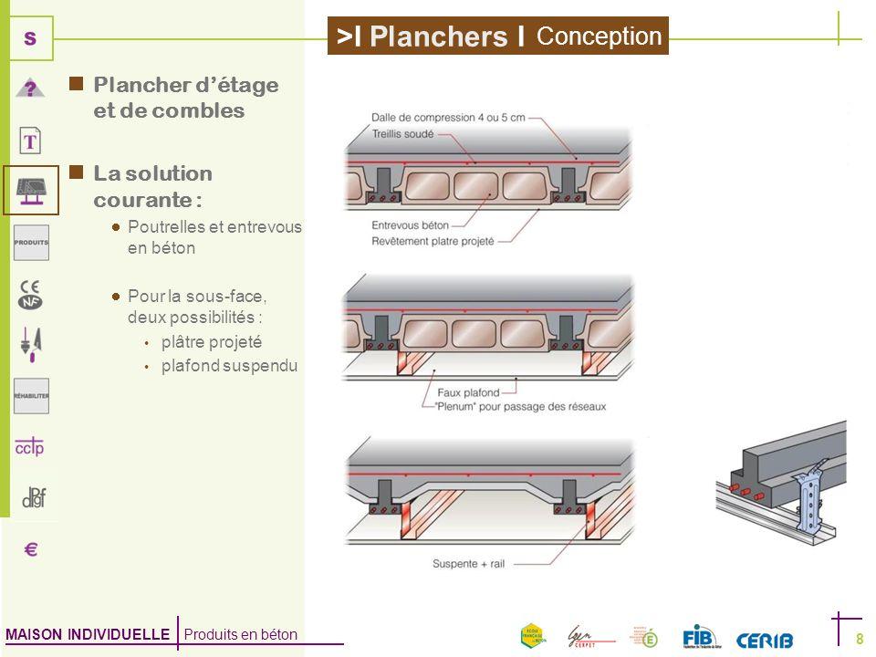 Conception Plancher d'étage et de combles La solution courante :