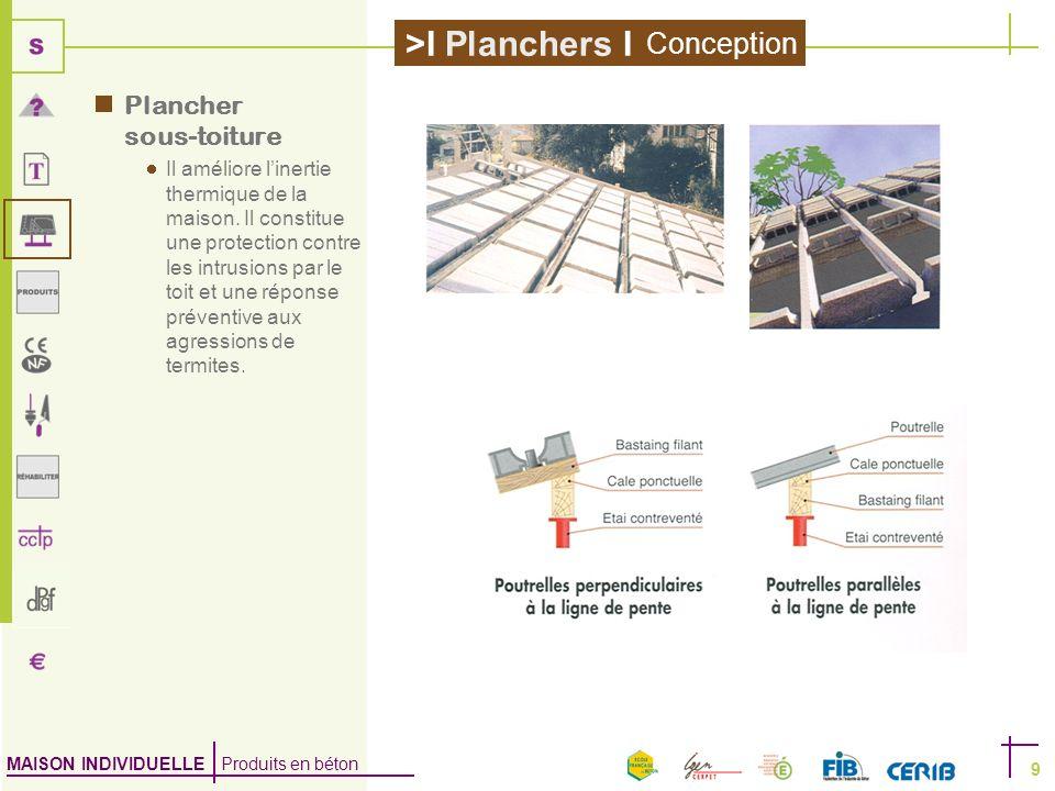 Conception Plancher sous-toiture