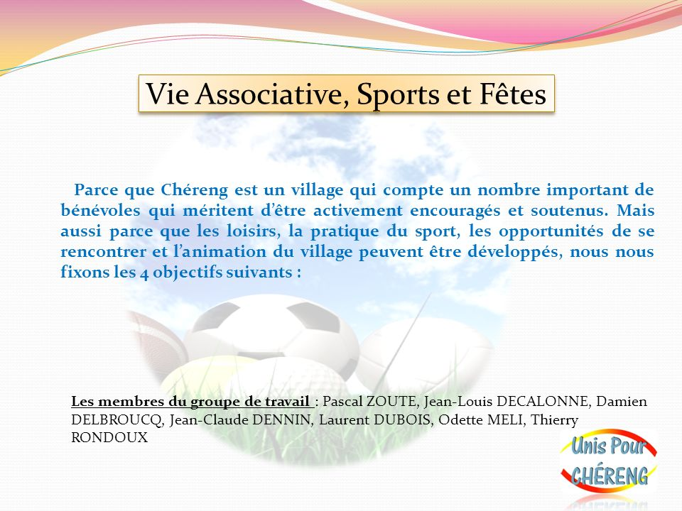 Vie Associative, Sports et Fêtes