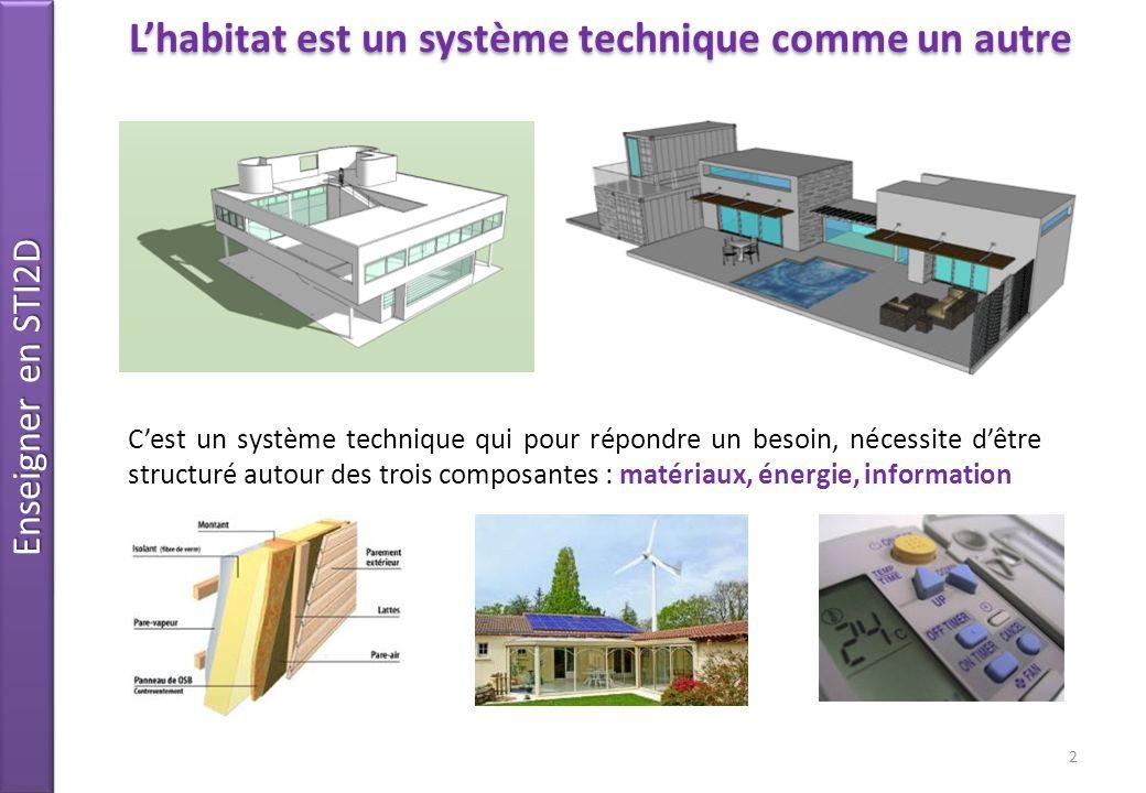 L'habitat est un système technique comme un autre