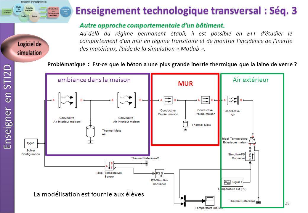 Enseignement technologique transversal : Séq. 3 Logiciel de simulation