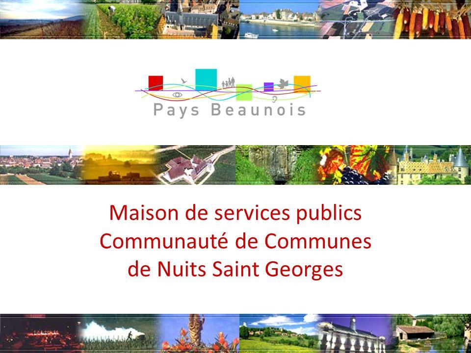 Maison de services publics Communauté de Communes de Nuits Saint Georges