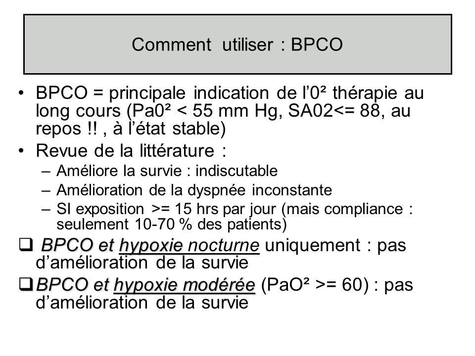 Comment utiliser : BPCO