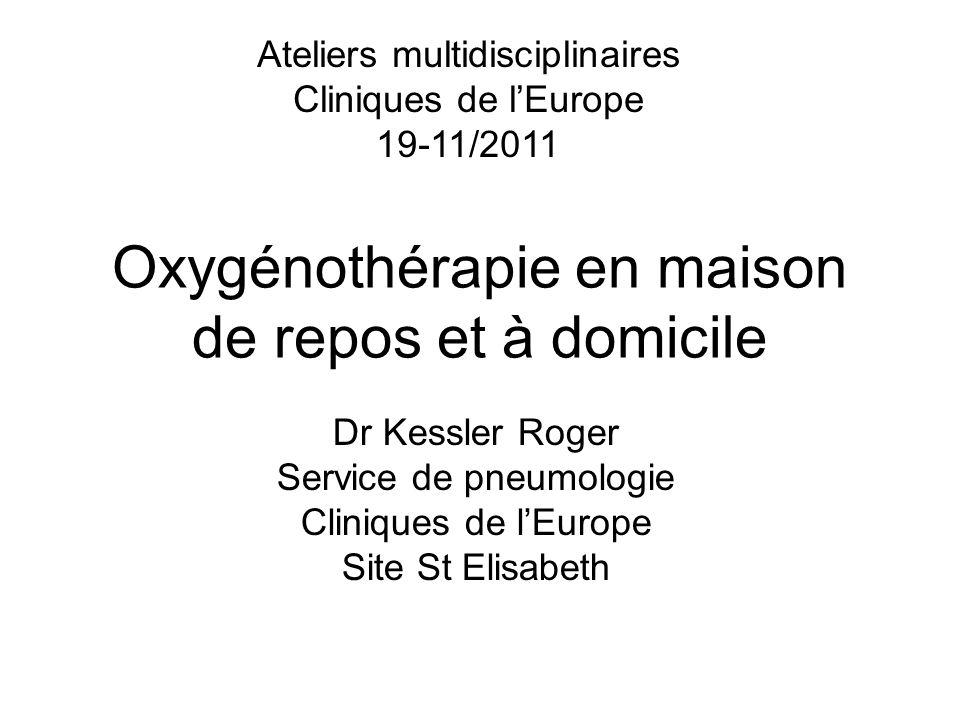 Oxygénothérapie en maison de repos et à domicile