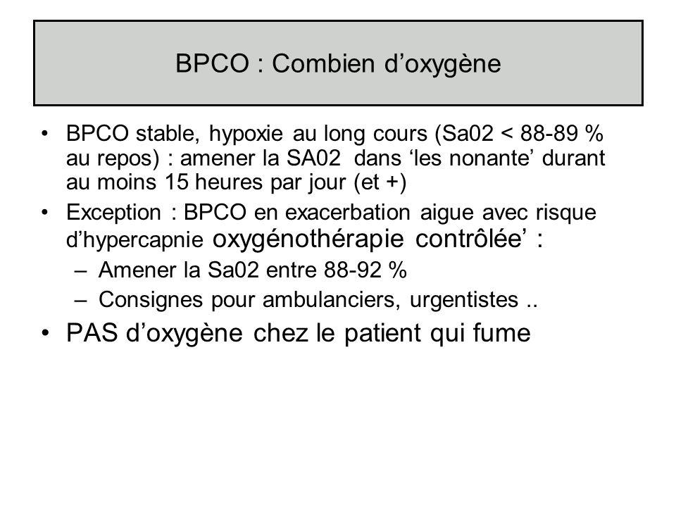 BPCO : Combien d'oxygène