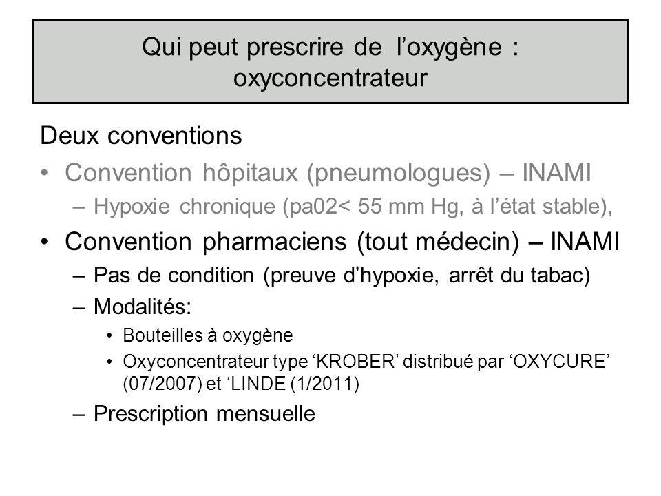 Qui peut prescrire de l'oxygène : oxyconcentrateur