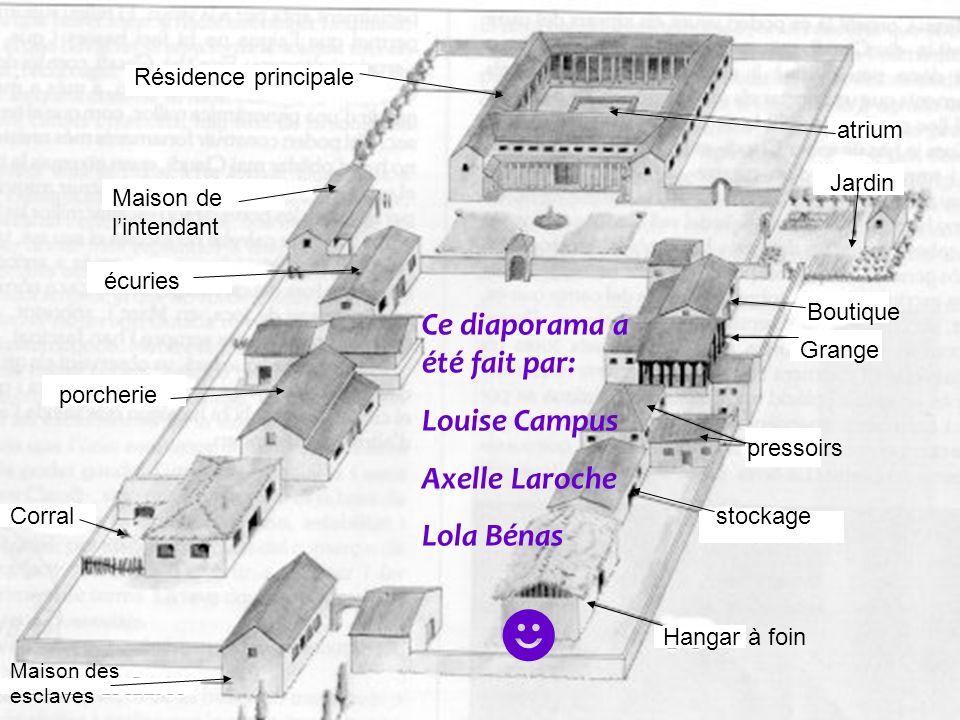 ☻ Ce diaporama a été fait par: Louise Campus Axelle Laroche Lola Bénas