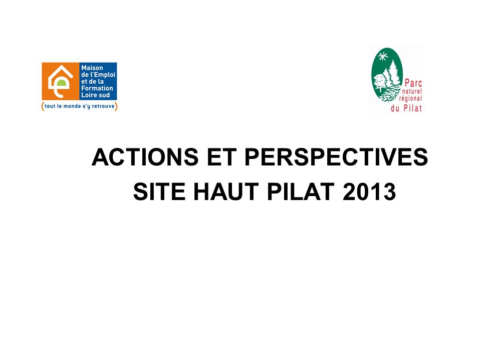 ACTIONS ET PERSPECTIVES