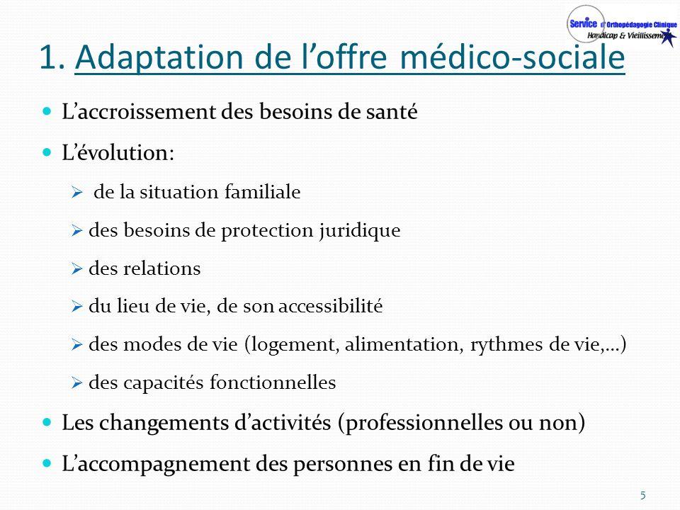 1. Adaptation de l'offre médico-sociale
