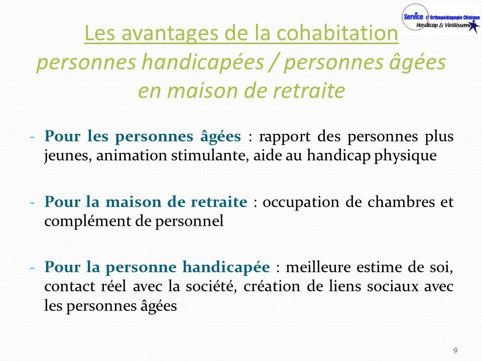 Les avantages de la cohabitation personnes handicapées / personnes âgées en maison de retraite