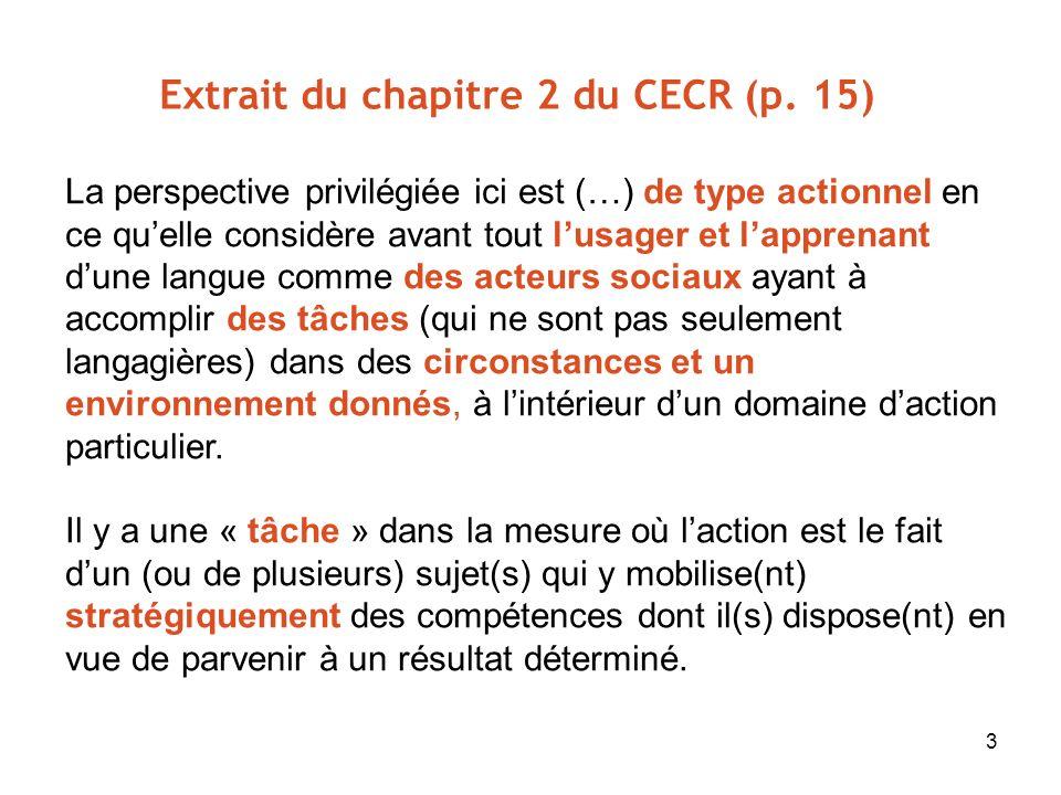 Extrait du chapitre 2 du CECR (p. 15)