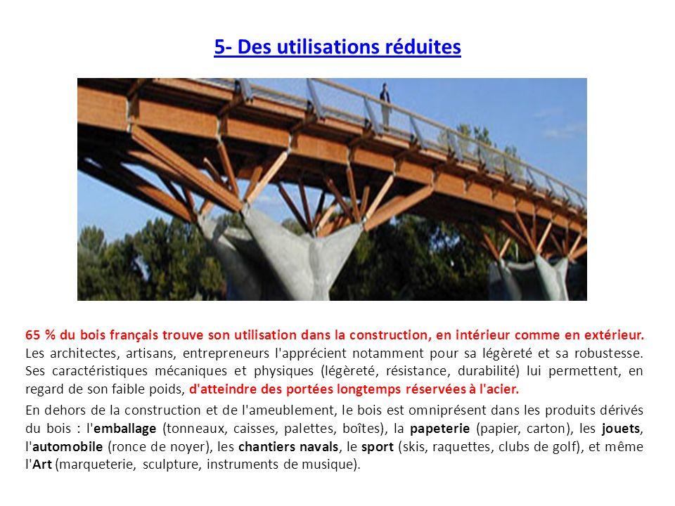 5- Des utilisations réduites