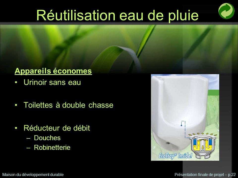 Réutilisation eau de pluie