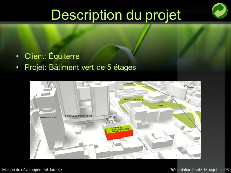 Description du projet Client: Équiterre