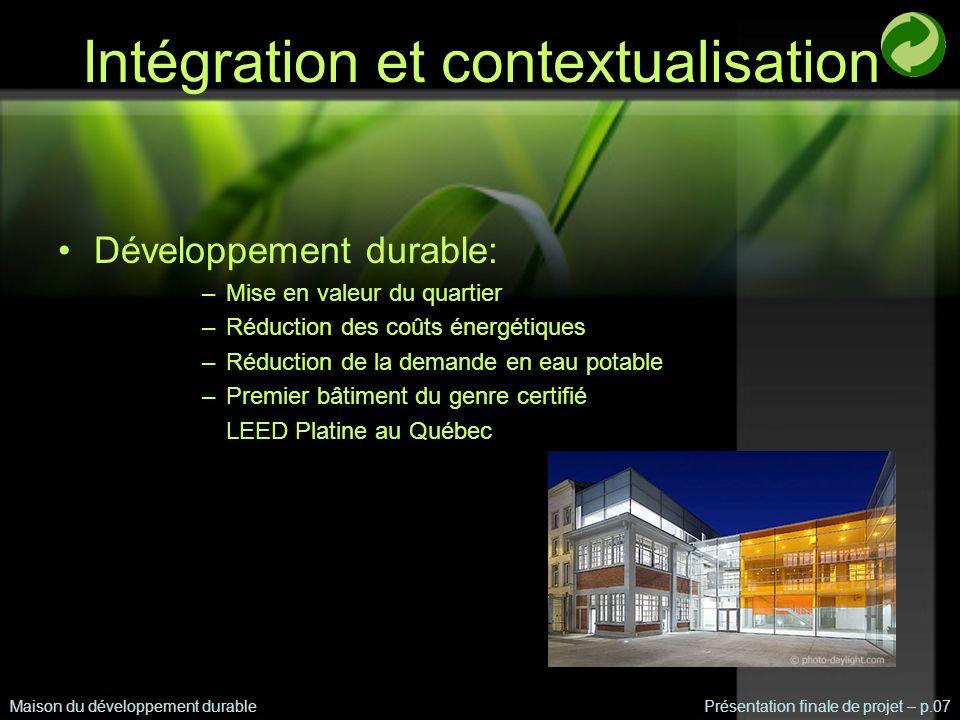 Intégration et contextualisation