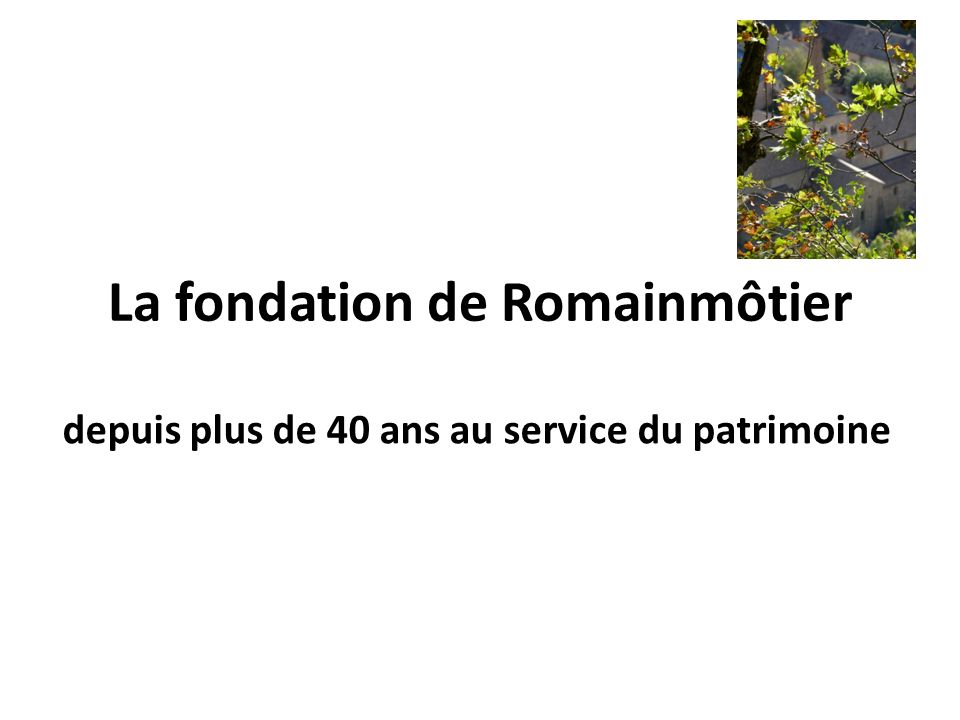La fondation de Romainmôtier