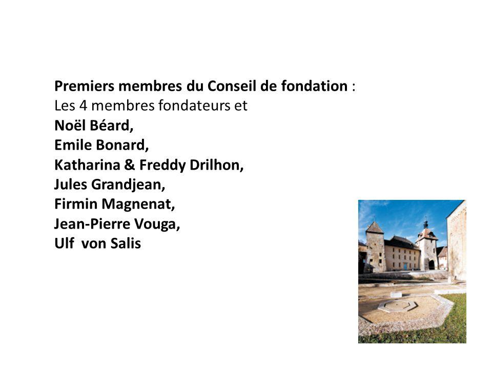 Premiers membres du Conseil de fondation :