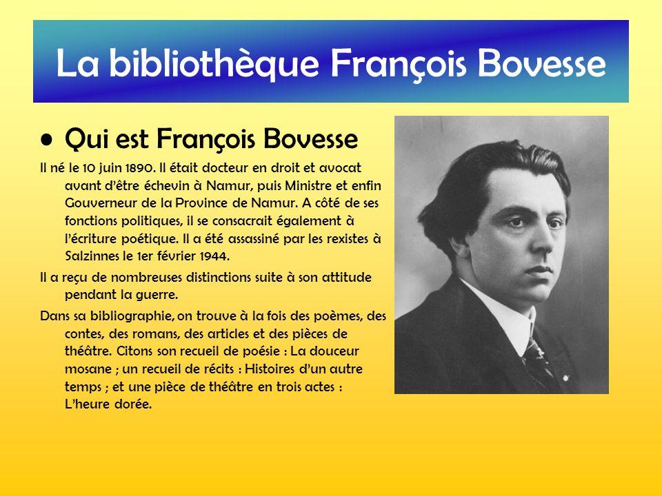 La bibliothèque François Bovesse