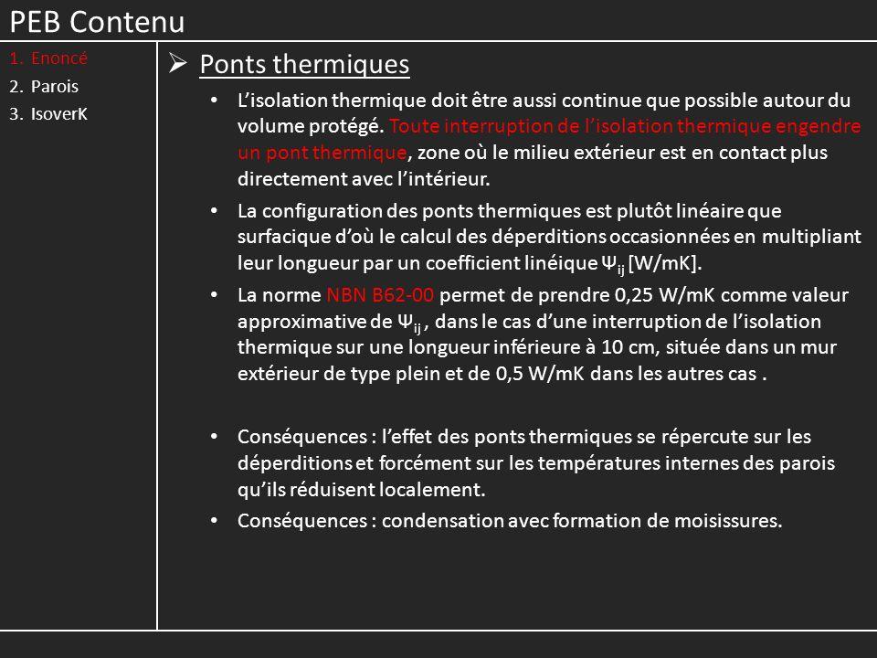 PEB Contenu Ponts thermiques