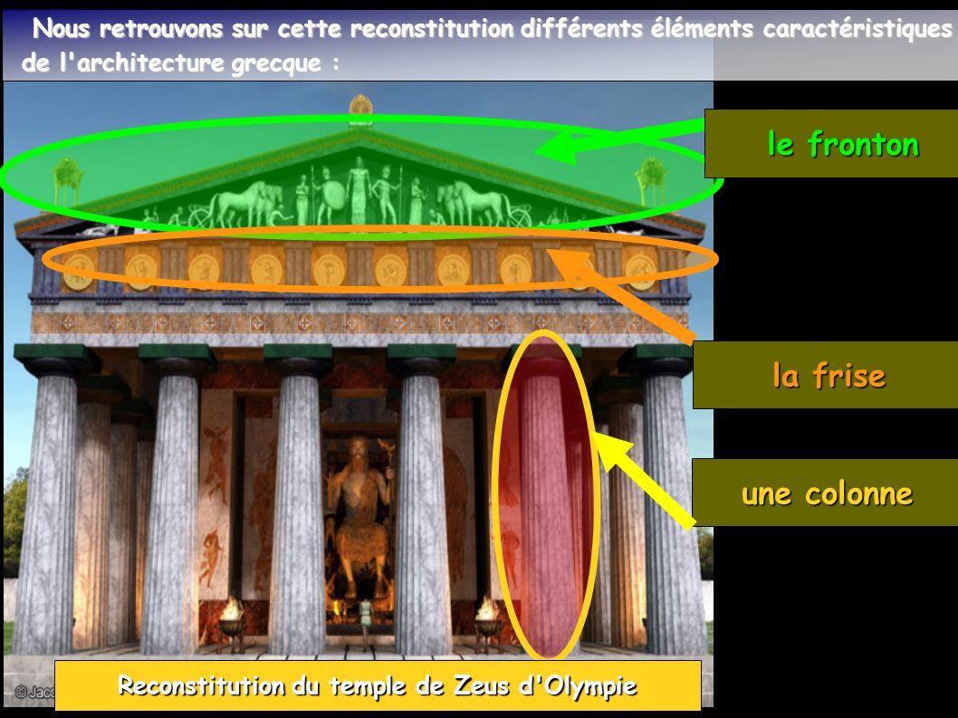 Reconstitution du temple de Zeus d Olympie