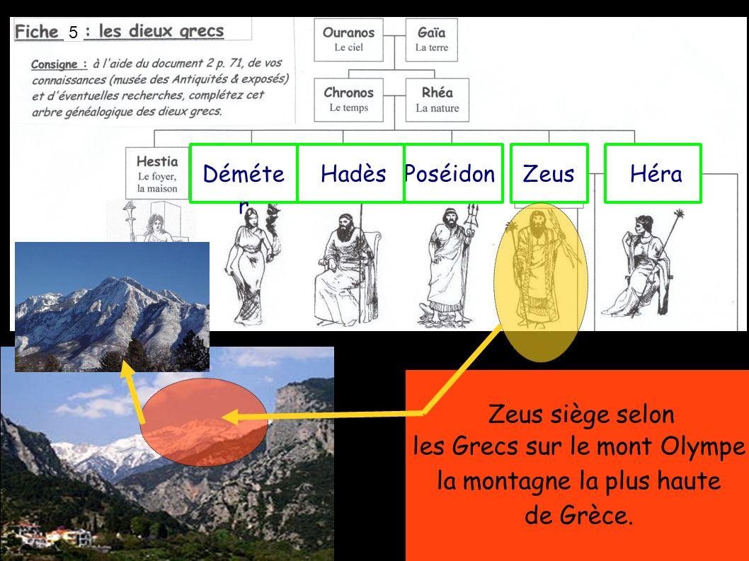 les Grecs sur le mont Olympe la montagne la plus haute de Grèce.