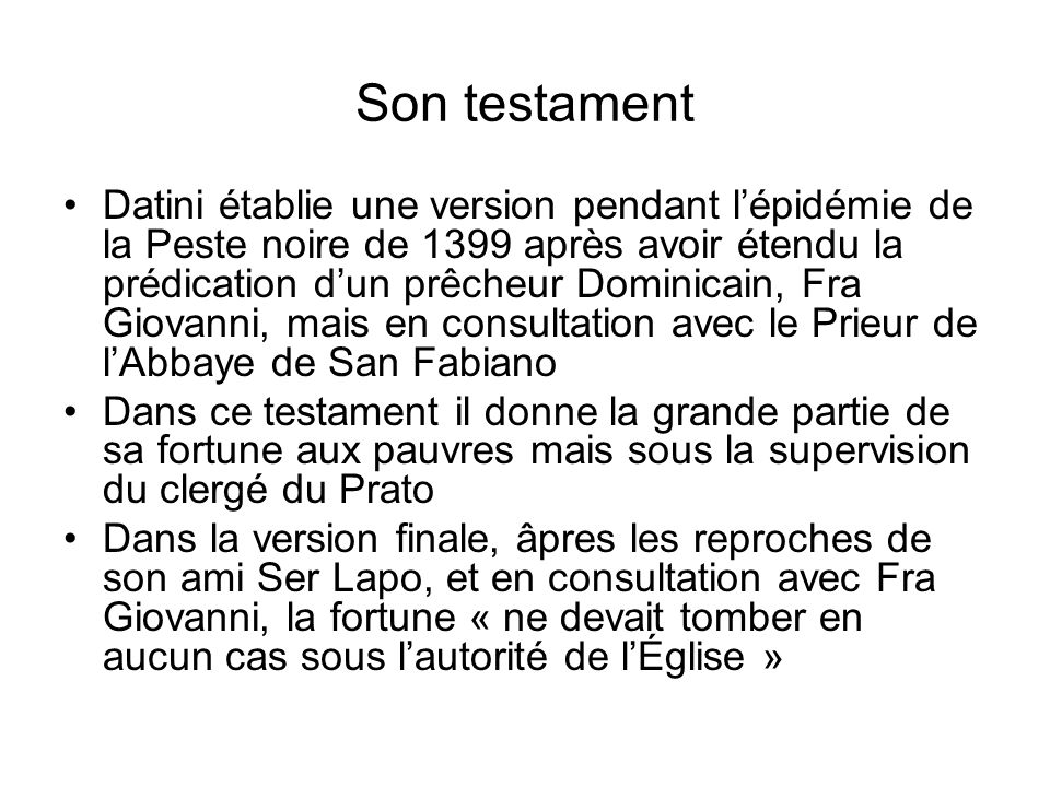 Son testament