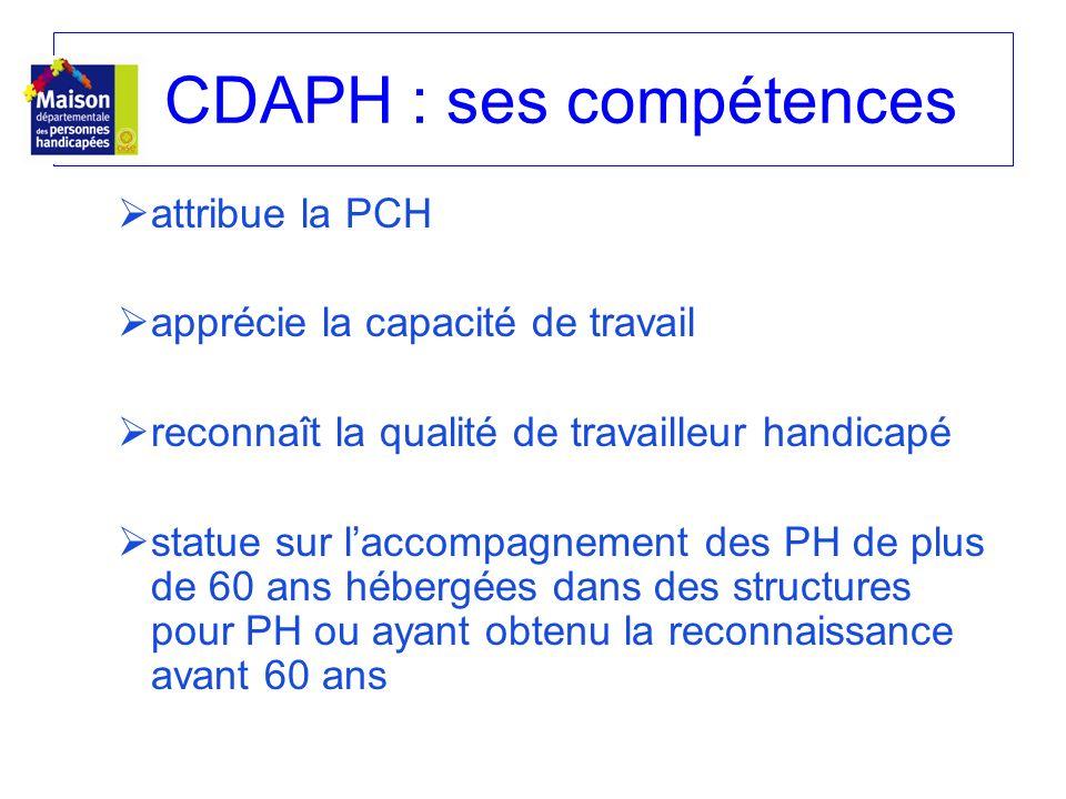 CDAPH : ses compétences