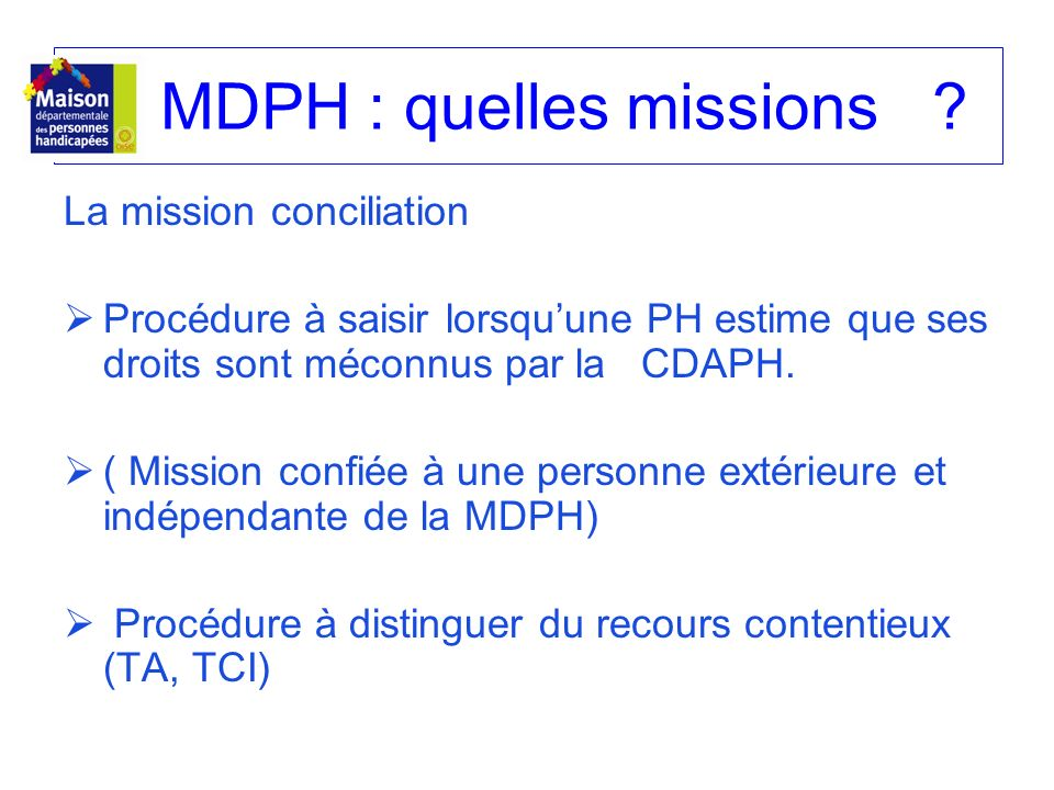 MDPH : quelles missions