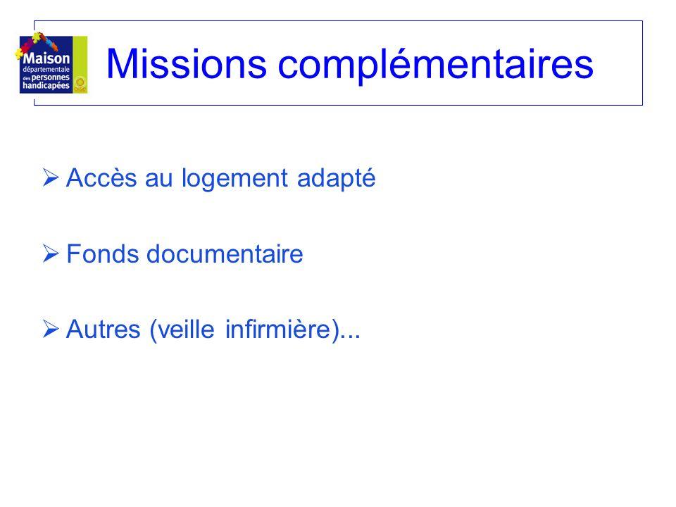 Missions complémentaires